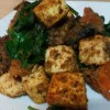 Quick & Easy Pan Roasted Tofu with Mushrooms