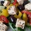 Not-feta salad! It's vegan!!!