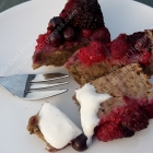 CAKE! :) with berries & cream (free-from)!