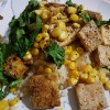 Spiced Tofu... try it you might be surprised!