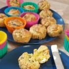 Fluffy Cornmeal Savoury Muffins