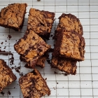 Decadent Vegan Biscoff Brownies