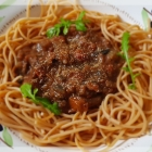 Spaghetti Bolognese - meat free