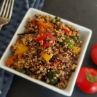 Batch cook tasty lunch for everyone with this easy quinoa